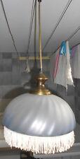 Suspension luminaire style opaline
