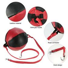 Double End Punching Speed Ball Striking Solid Leather MMA Boxing Training L6Y5