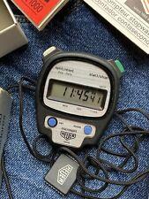1980s Heuer Microsplit 1000 Digital Stopwatch In Box + Papers