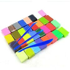 32 Colour Oven Bake Polymer Clay Block Set Modelling Moulding Sculpey + 3 Tools