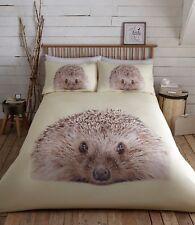Prickly Hedgehog Animal Photo Print Duvet/Quilt Cover Set Bedding Multi