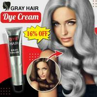 100ml Fashion Light Gray Silver Permanent Hair Dye Cream Hair Cream Color