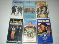 ROBIN WILLIAMS MOVIES 6 PACK VHS MOVIE LOT RARE OOP HTF