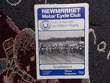 1988 SNETTERTON PROGRAMME 6/3/88 - LES CLIFFORD TROPHY MOTORCYCLE RACES