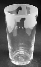 More details for border terrier frieze boxed 57cl conical 1 pint glass