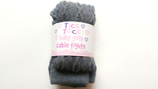 GIRLS TICK TOCK CABLE KNIT TIGHTS COTTON RICH WITH ELASTANE SCHOOL 45B052