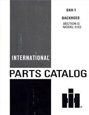 International 3122 A Backhoe 2400-A 2400A 500C 500-C Crawler Parts Manual