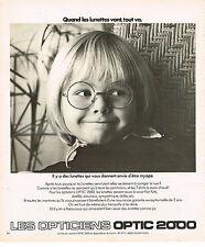 PUBLICITE  1976   OPTIQUE  2000  opticiens lunettes