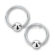 """18G 3/8"""" Pair Stainless Steel Captive Bead Rings 18 gauge ear lip hoop dunnygun"""