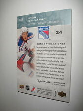 2007 07 -08  THE CUP RYAN CALLAHAN 4 LINES OF COLOR ROOKIE PATCH AUTO 14/249
