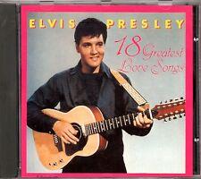 ELVIS PRESLEY - CD 18 GREATEST LOVE SONGS - 1987 Made in Holland