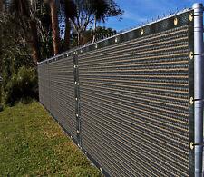 Ifenceview 5'x1'-5'x100' DARK Brown Fence Privacy Screen Fabric Garden Balcony