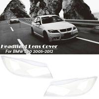 Paire Front Clear Lentilles de phares couverture Pour BMW 3 Series E90 2005-2012