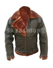 Men's Stylish B3 Flight Bomber Full Fur Genuine Cow Leather Jacket.