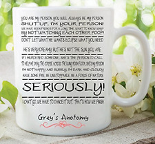 Funny Novelty Mug Seriously Grey's Anatomy Joke Work Birthday Cup Gift WSDMUG398