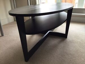 "IKEA VEJMON Coffee Table — Black — Size 55 1/8 "" x 26 "" — 140 cm x 66 cm — Used"