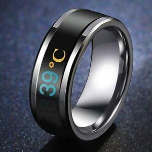 Temperature Ring Titanium Steel Mood Emotion Feeling Intelligent Accessories