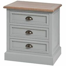 CHURCHILL COLLECTION THREE DRAWER BEDSIDE- STORE SMALL ITEMS INSIDE.