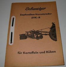 Ersatzteilliste Schmotzer Zapfwellen Vorratsroder ZVK-R für Kartoffeln + Rüben!