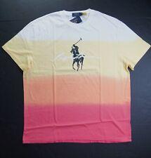 POLO RALPH LAUREN Men's Classic Fit Ombre Big Pony Script Logo Crewneck T-Shirt