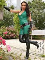 Lederhose Leder Hose Knalleng Grün Verschluß hinten Maßanfertigung