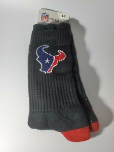 NFL Houston Texans Crew Socks Large 10-13 New