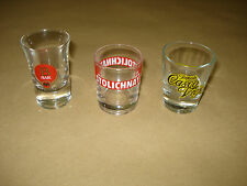 COLLECTIBLE SHOT GLASSES – STOLICHNAYA VODKA – BACARDI RUM – CASCO VIEJO TEQUILA