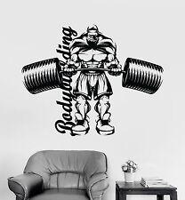 Vinyl Wall Decal Bodybuilder Gym Fitness Motivation Garage Stickers (ig3954)