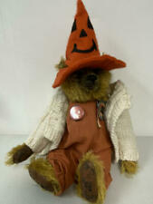 "15"" (Counting Hat) Pat Murphy Halloween Teddy Bear W Distressed Paw Pads"