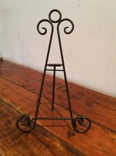 8 INCH BLACK IRON EASEL SMALL PICTURE ART PHOTO PLATE STAND WEDDING HOLDER AA-17