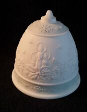 Lladro Christmas Bell 1992 Ornament Sage / Green - Poinsettia Candles