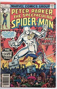 Spectacular Spider-Man #9 - 1st App White Tiger In Comics - Marvel Comics