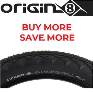 """Origin8 Supercell 26"""" x4.00 Fat Bike Tire Wide Street Tread Fast Plush Edge Grip"""