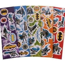 5x Sheets of Reusable Batman Stickers Fun Superhero Cartoon Logo Card/letter