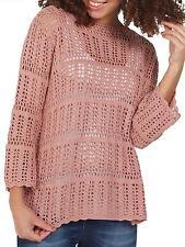 Fat Face Cara Crochet Jumper Pink Size Small rrp £55.00  SA078 EE 16