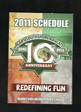 Gary SouthShore RailCats--2011 Pocket Schedule--Work One--American Association