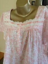 Women's Plus Croft & Barrow Knit Short Sleeve Cotton Blend Nightgown Pink Size2X