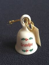 Ganz Ceramic Bell Grandpa 24293 While Holly Berry Small Porcelain Grandfather