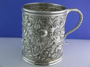 Incredible Sterling S KIRK & SON CO Mug / Cup REPOUSSE ~7.22 ozt