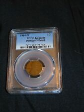 1914-D 1C Lincoln Wheat Cent PCGS Genuine Damage-G Detail
