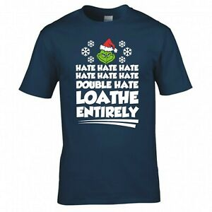 """INSPIRED BY THE GRINCH """"HATE HATE HATE"""" CHRISTMAS T-SHIRT"""