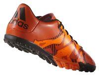 Adidas X 15.4 Junior Kids Astro Turf J TF Football Boots Trainers - Orange Black