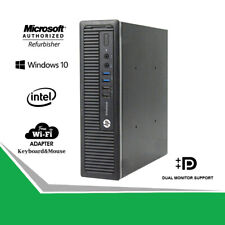 HP 800 G1 USFF Slim Desktop Business Computer PC i5 3.2GHz 16GB HDD-SSD WiFi Win