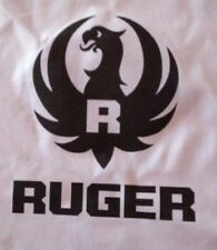 "1 RUGER LOGO ON 18X18 SEWING BLOCK QUILT FABRIC "" GUNS 22 PISTOLS RIFLE"