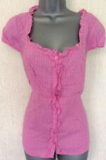 Pink Cotton Blouse Top. Per Una Marks & Spencer, Size 12