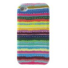 TPU-Case Hülle Apple iPhone 4S 4 Streifen Stoff Cool Skin Case Cover Schale