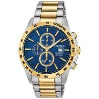Citizen Men's Quartz Chronograph Date Indicator Two-Tone 42mm Watch AN3644-53L