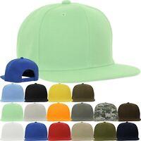 Classic Snapback Baseball Cap Plain Blank Snap Back Hat Flat Bill Hat Camo Mint