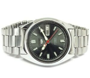 VINTAGE SEIKO 5 ORIGINAL DIAL 7009 DAY DATE AUTOMATIC WORKING WRIST WATCH