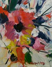 JOSE TRUJILLO OIL PAINTING FLOWERS SIGNED ARTWORK ORIGINAL CONTEMPORARY DECOR